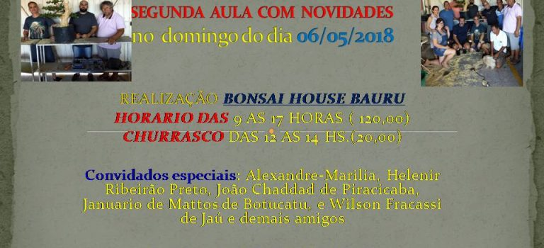 ESCOLA BONSAI HOUSE COM MICHAEL BORTOLACCI
